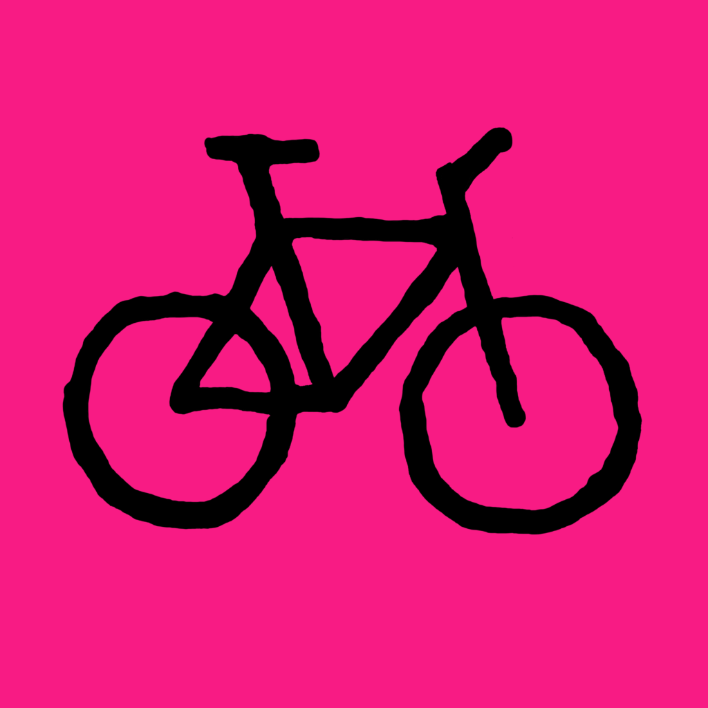 Bicycle-pink-black