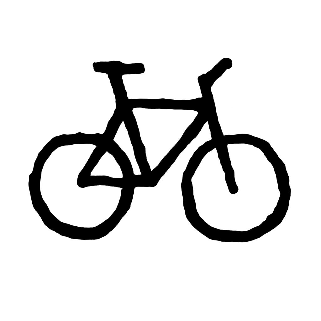 Bicycle-white-black