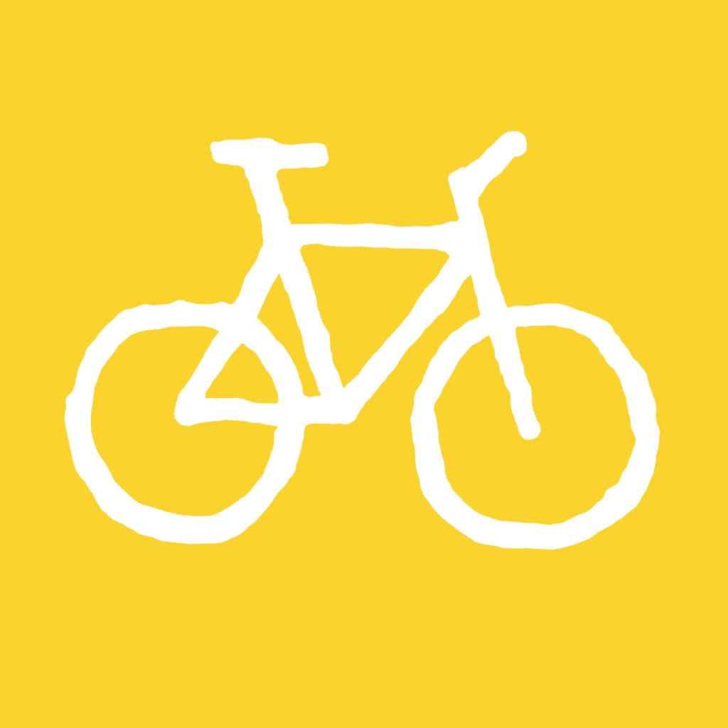 Bicycle-yellow-white