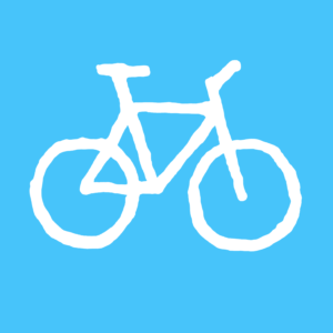 Bicycle-blue-white
