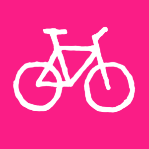 Bicycle-pink-white